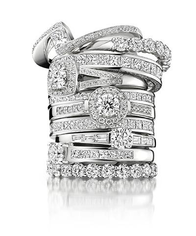 aneis de noivados diamantes