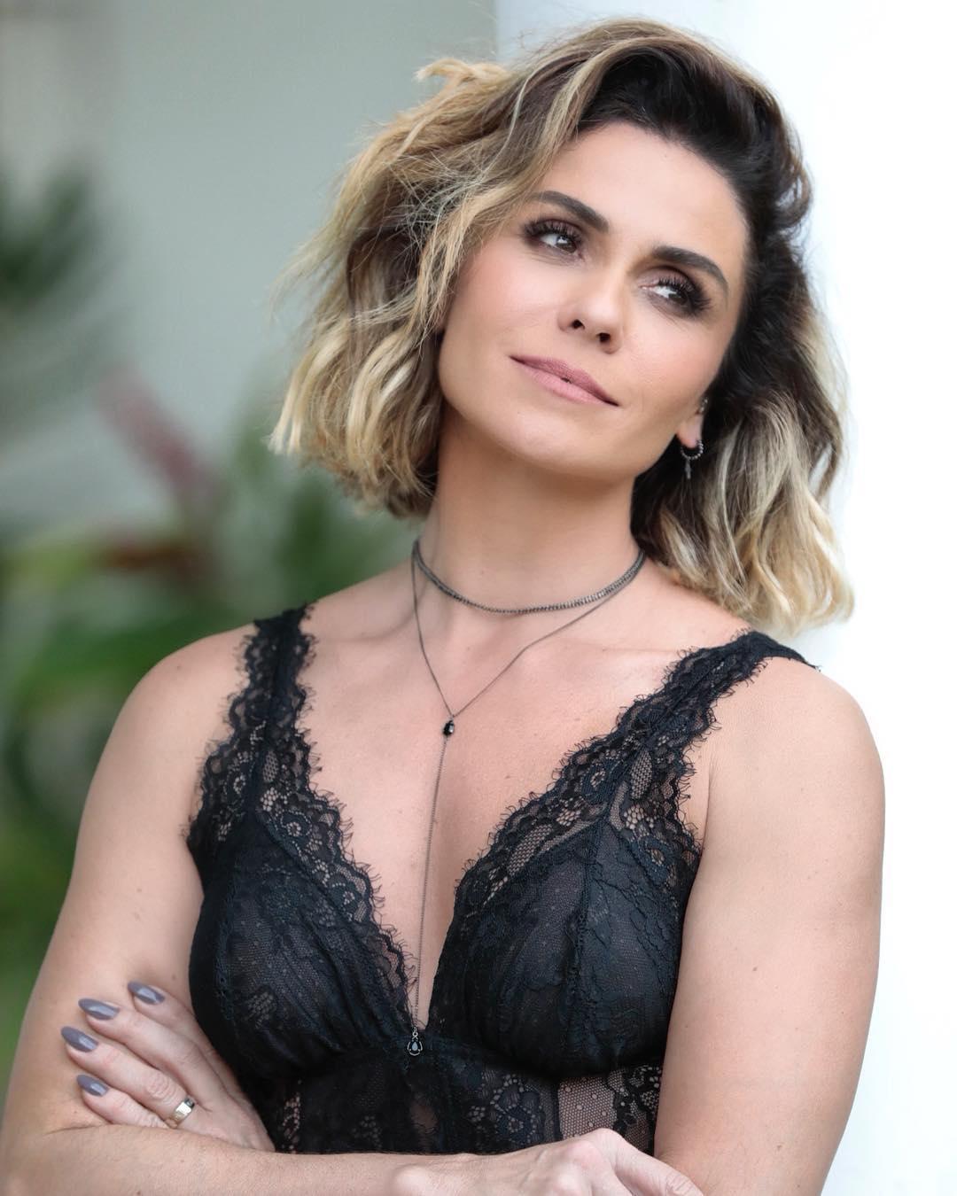 Choker Ródio Negro Giovanna Antonelli