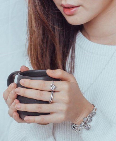 Anéis delicados prata