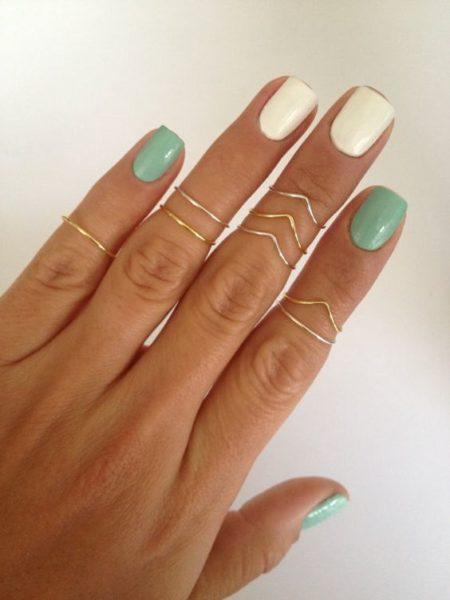 Anéis de falange dourados