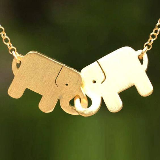Bff colar de elefante