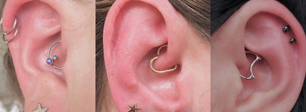 Daith piercing modelos