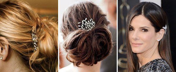 Usar broche no cabelo