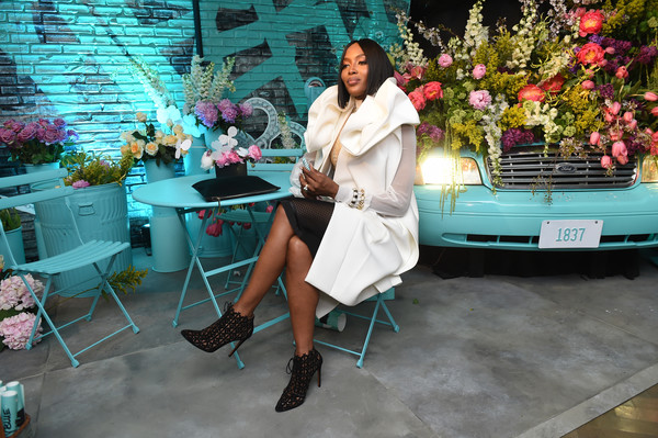 Naomi Campbell Paper Flowers