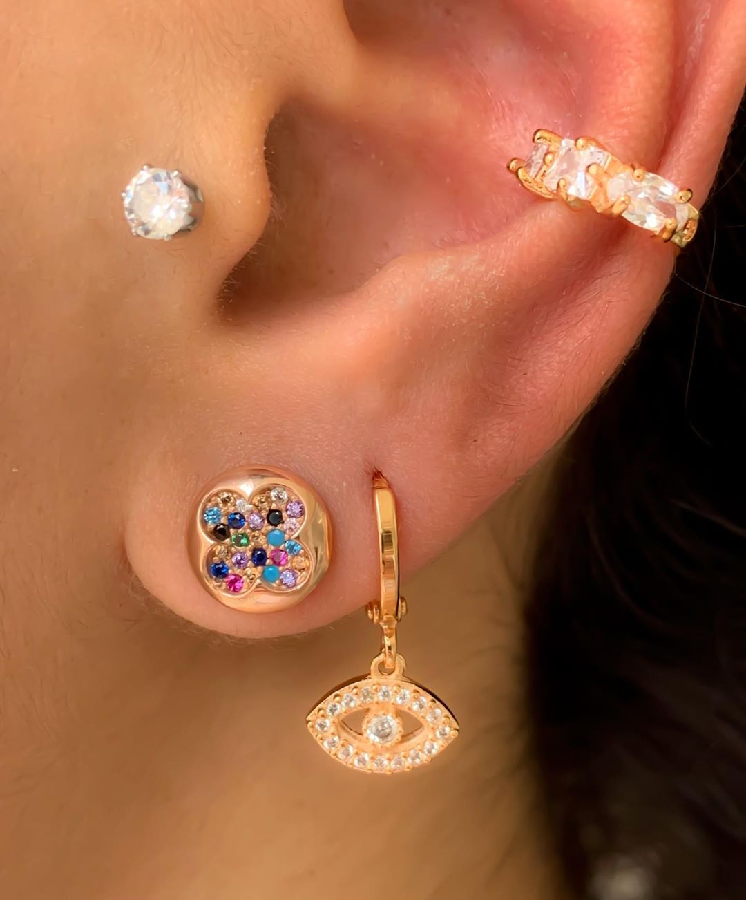piercing ouro rose