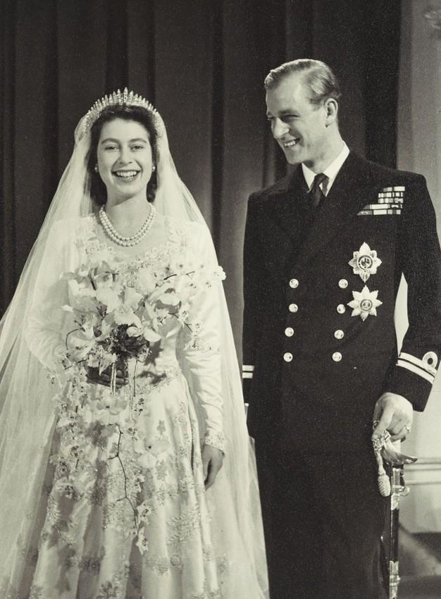 Rainha Elizabeth e príncipe Philips juntos