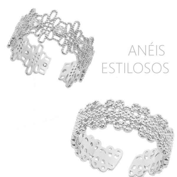 Anéis estilosos
