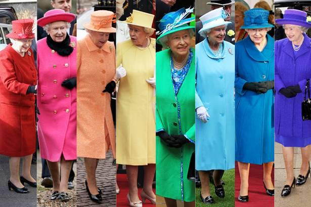 Rainha Elizabeth Looks Coloridos