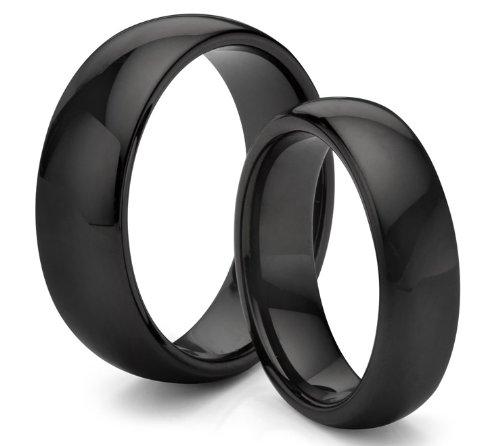 Aliança de noivado preta