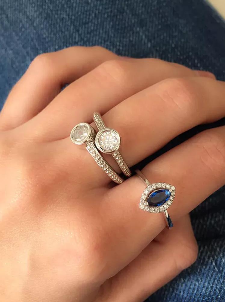 Anéis de Zircônia Textura