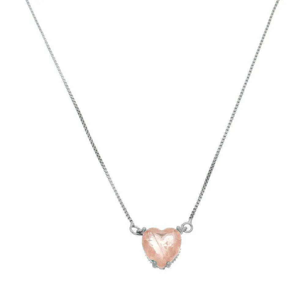 colares da moda coração fusion
