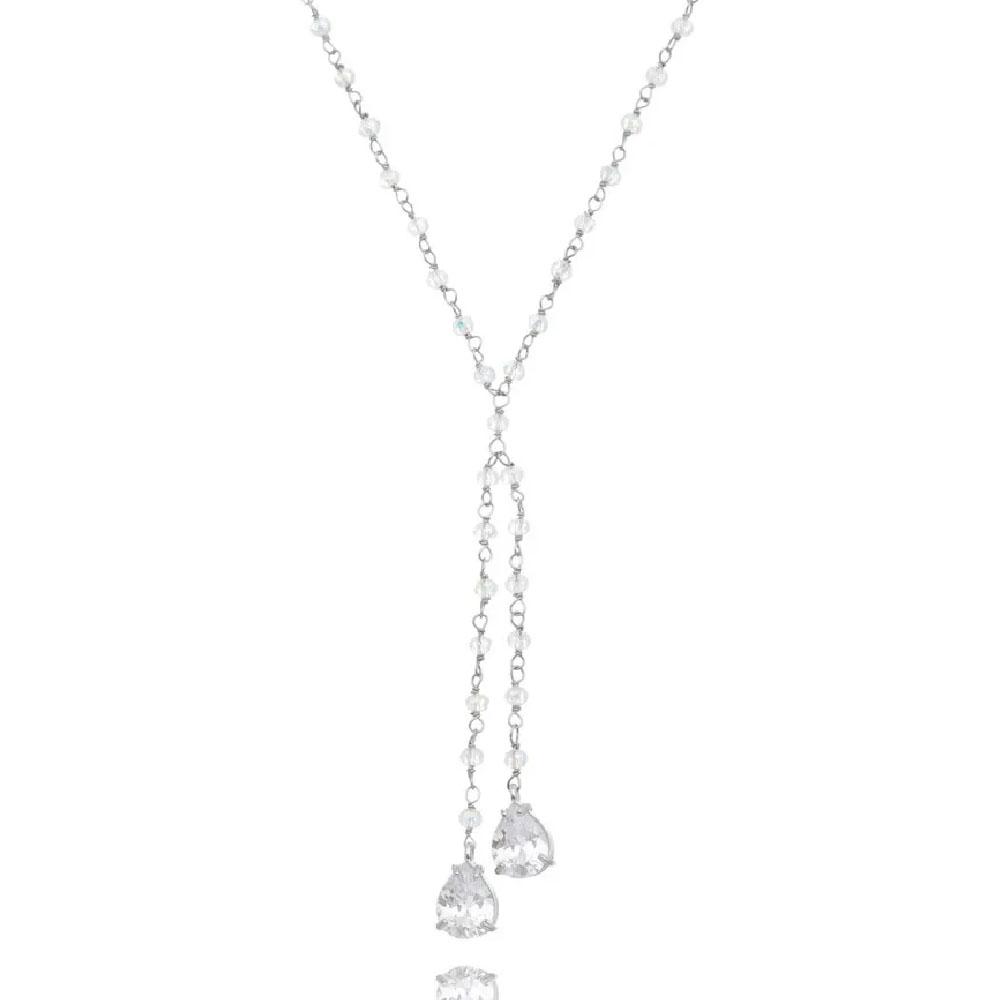 colares da moda gravatinha cristais