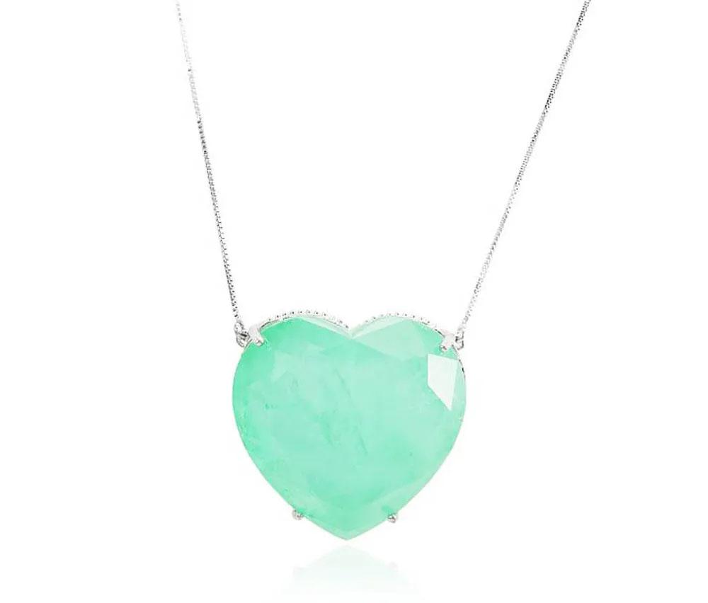 colares da moda maxi gotas coração