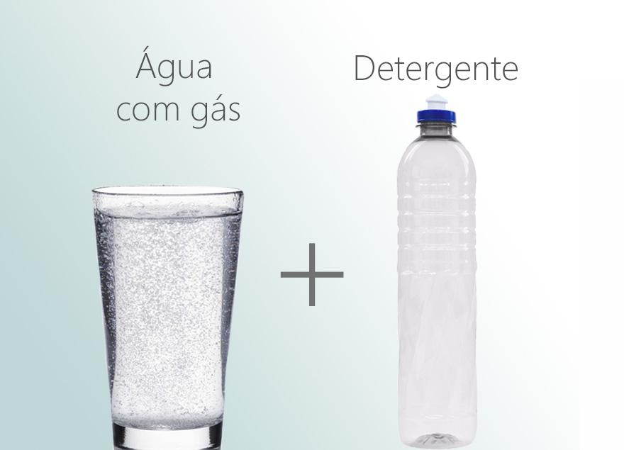 Detergente água