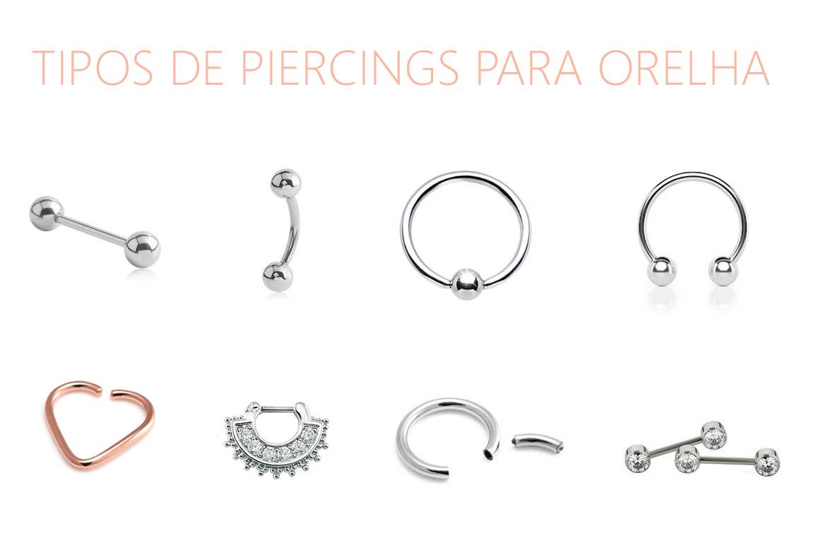 Tipos de piercings para orelha