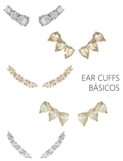 Brincos básicos ear cuffs
