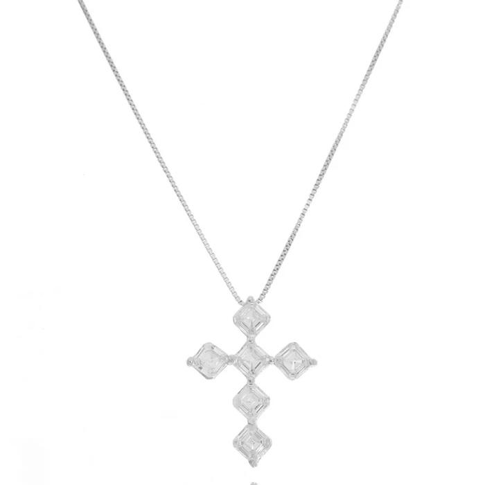 Colar religioso crucifixo