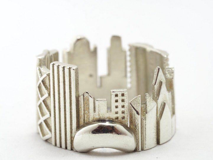 Joias criativas anel chicago