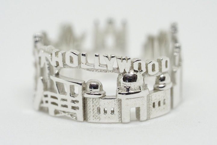 Joias criativas anel hollywood