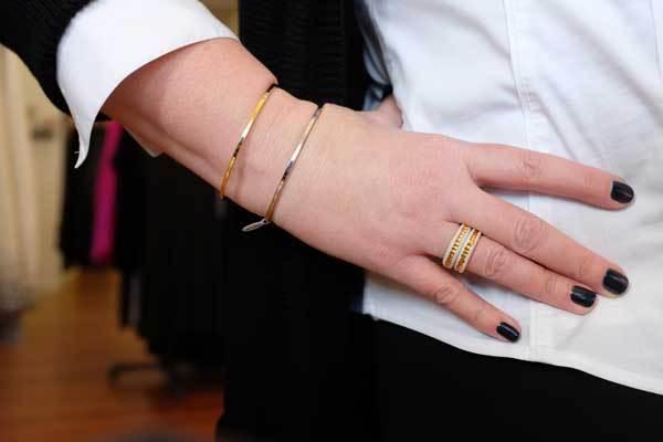 Ouro e prata pulseiras
