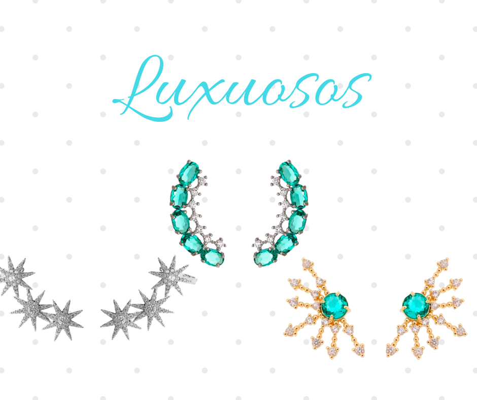 Ear cuffs luxuosos