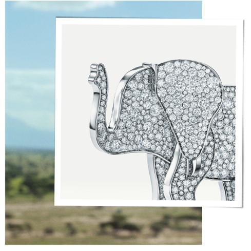 Coleção da tiffany co elefante