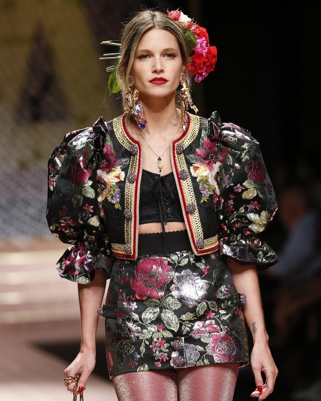 Desfile da Dolce & Gabbana Helena Bordon