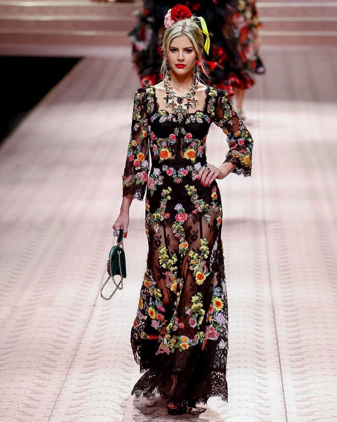 Desfile da Dolce & Gabbana Lala Rudge