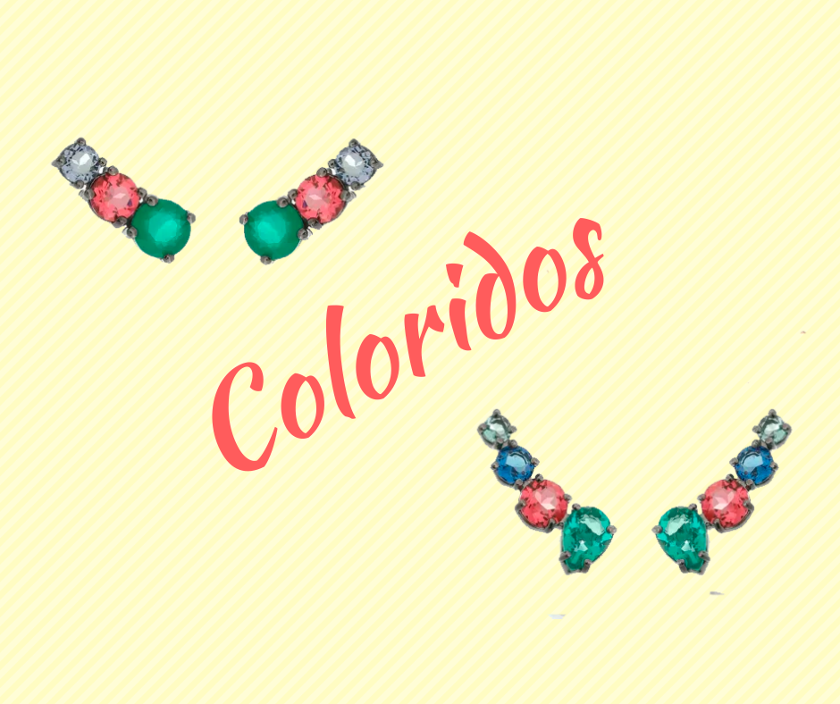 Ear cuffs coloridos