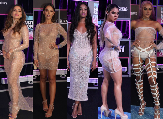 Joias e looks do premio multishow