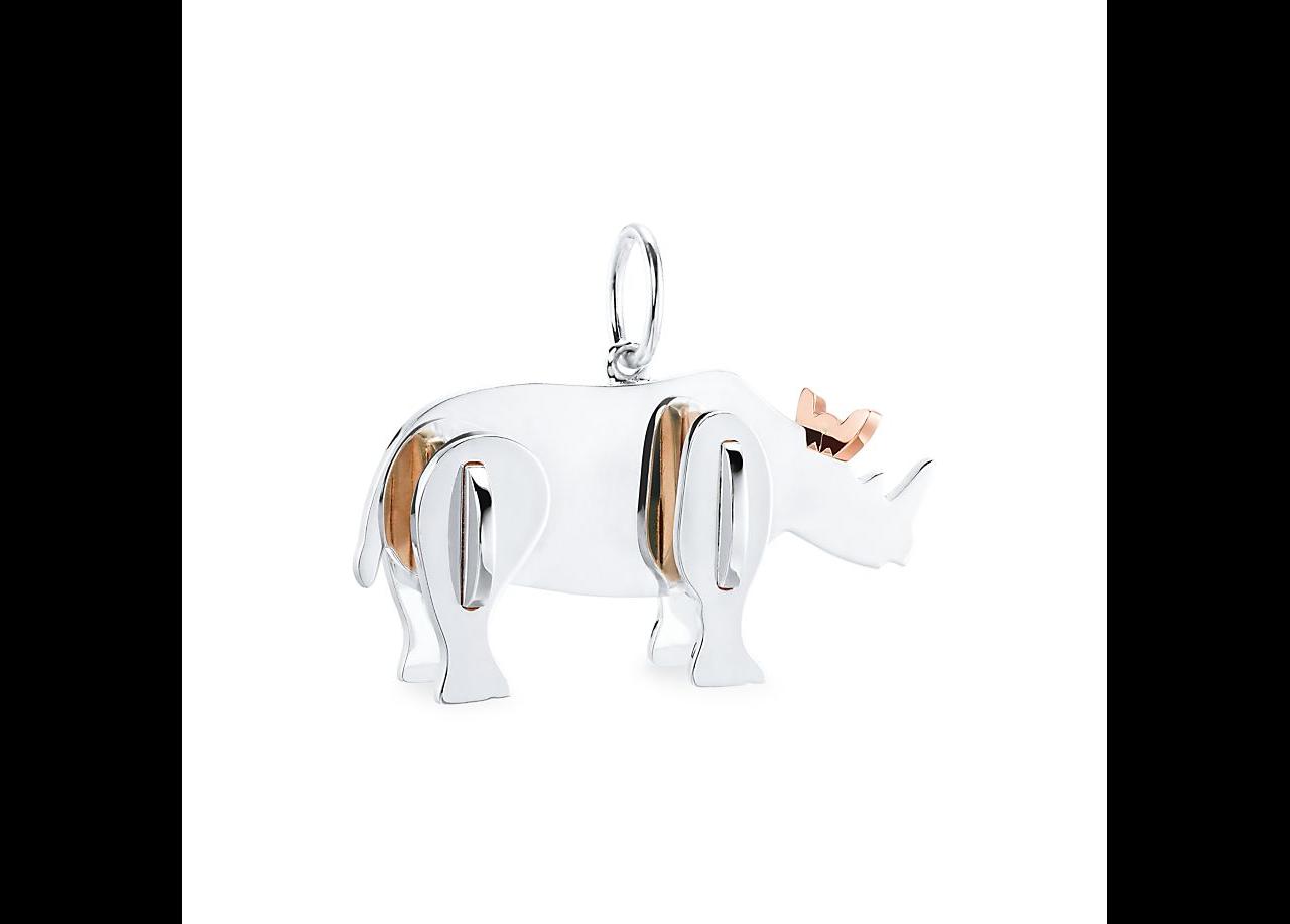 Pingente rinoceronte tiffany