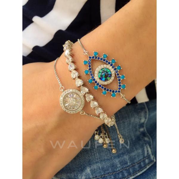 pulseiras delicadas olho grego waufen