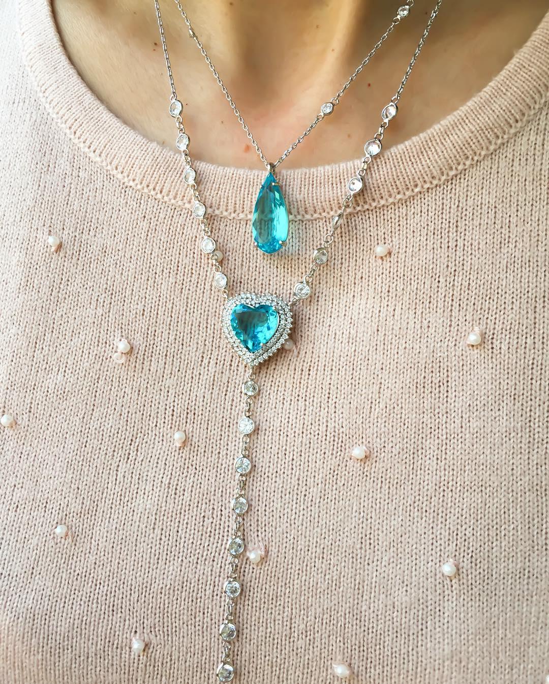 Como combinar dois colares tonalidade da pedra