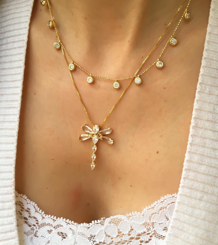 Como combinar dois colares destaque um colar