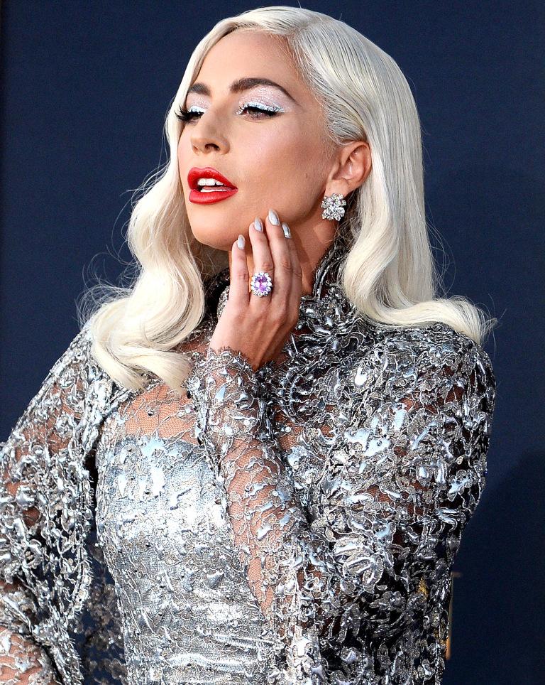 Joias rosa anel Lady Gaga