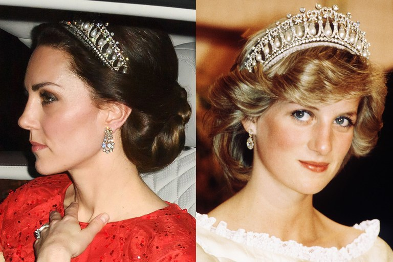 Kate Middleton usa tiara pela segunda vez