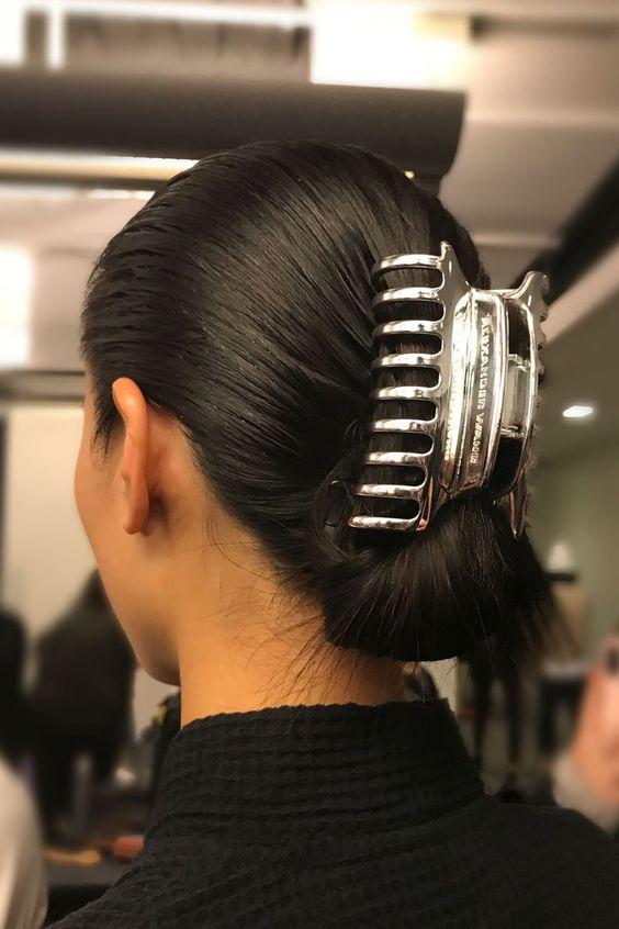 Acessórios para cabelo anos 90 presilha