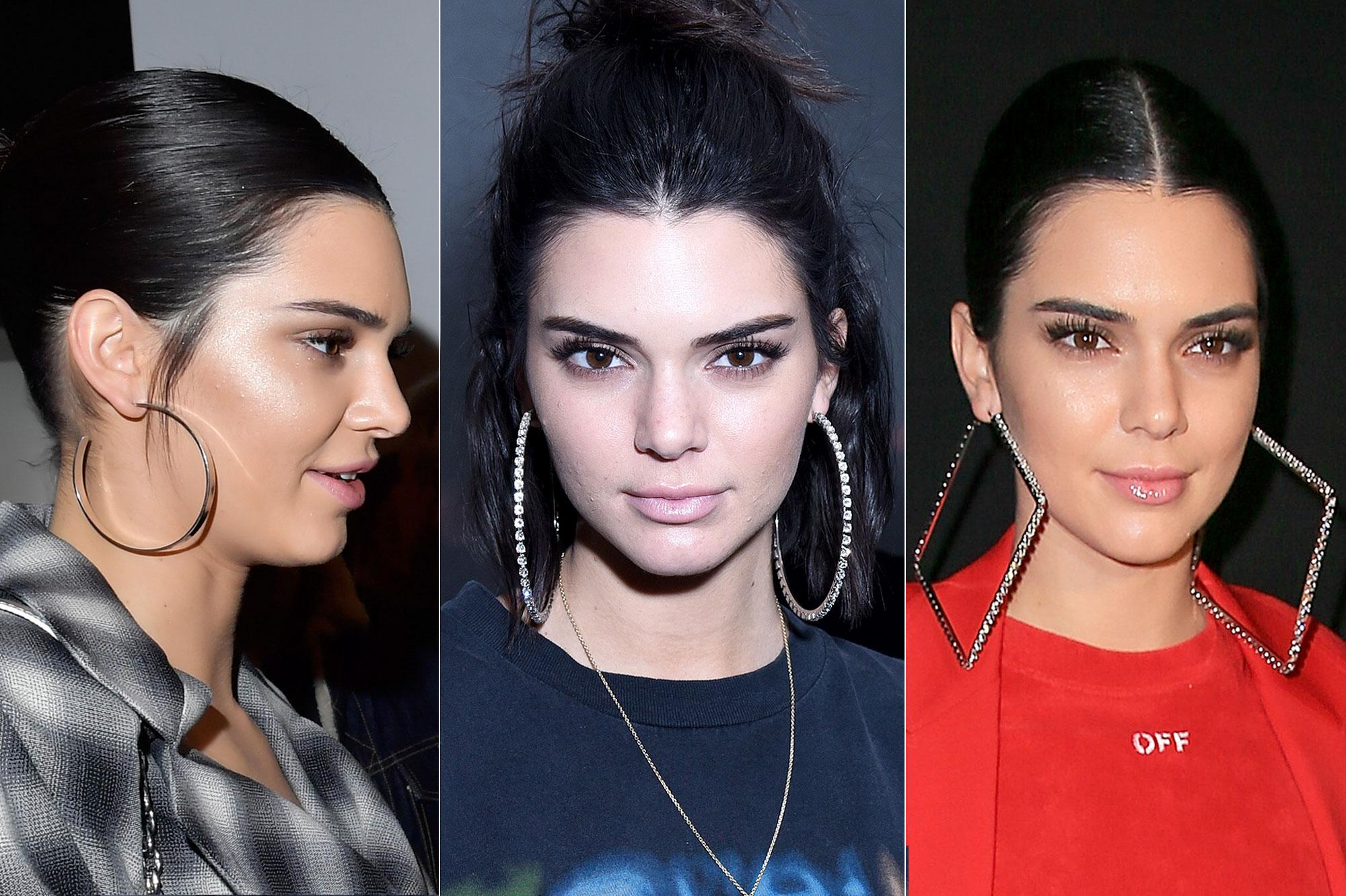 Brinco de argolas grandes Kendall Jenner