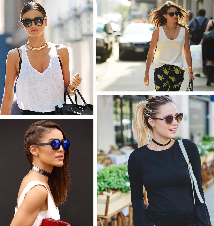 Chokers tendência moda