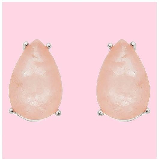 Joias rosa brincos de gota