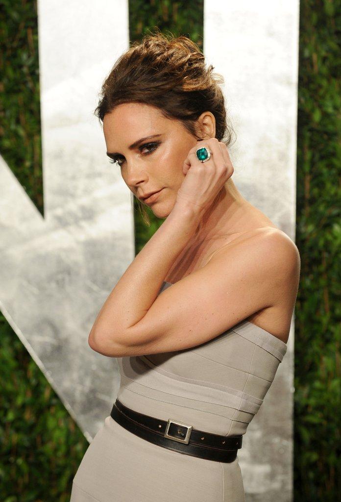 Anéis de noivado da Victoria Beckham esmeralda