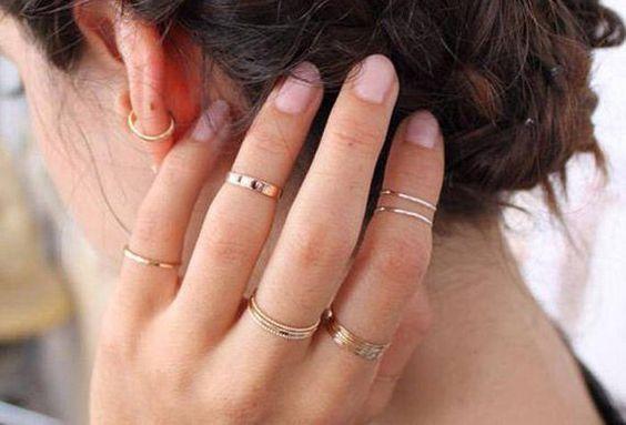 Como usar anéis de falange