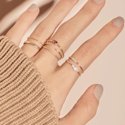 Como usar anéis minimalistas