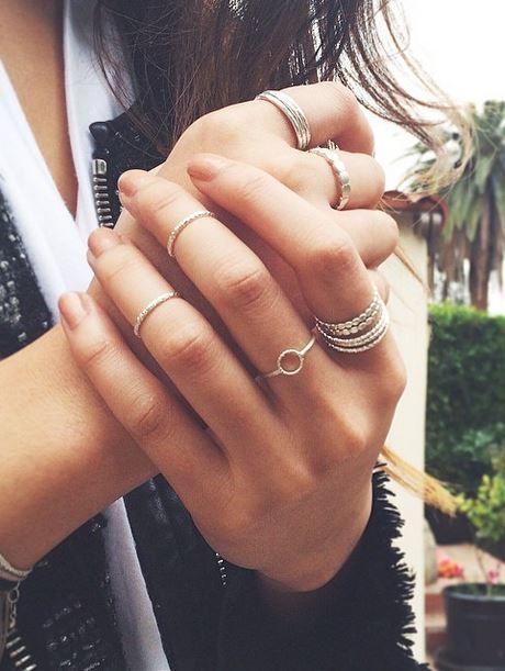 Como usar anéis na ponta do dedo