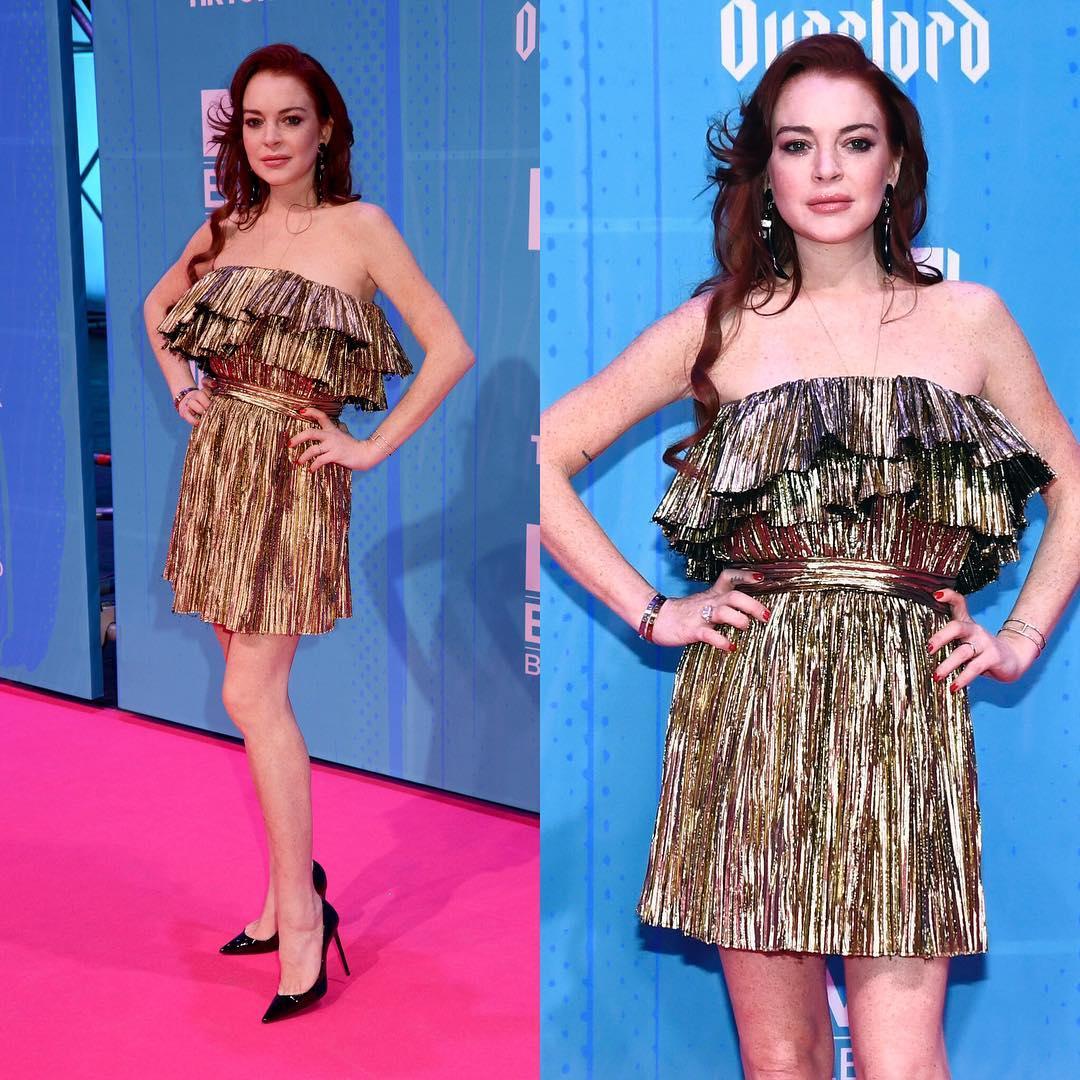 Looks do Europe Music Awards Lindsay Lohan