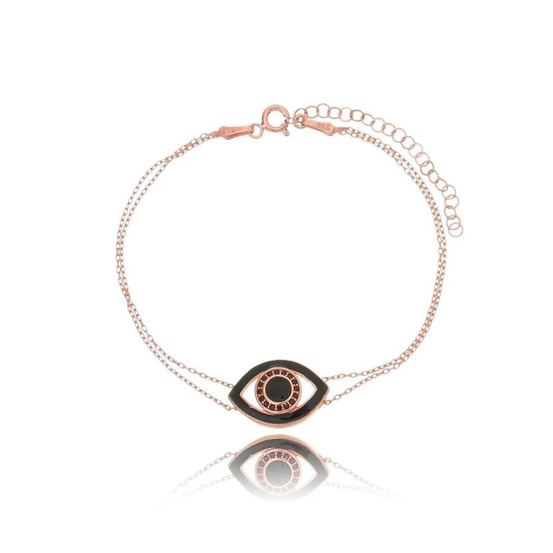 Pulseira de olho grego rose