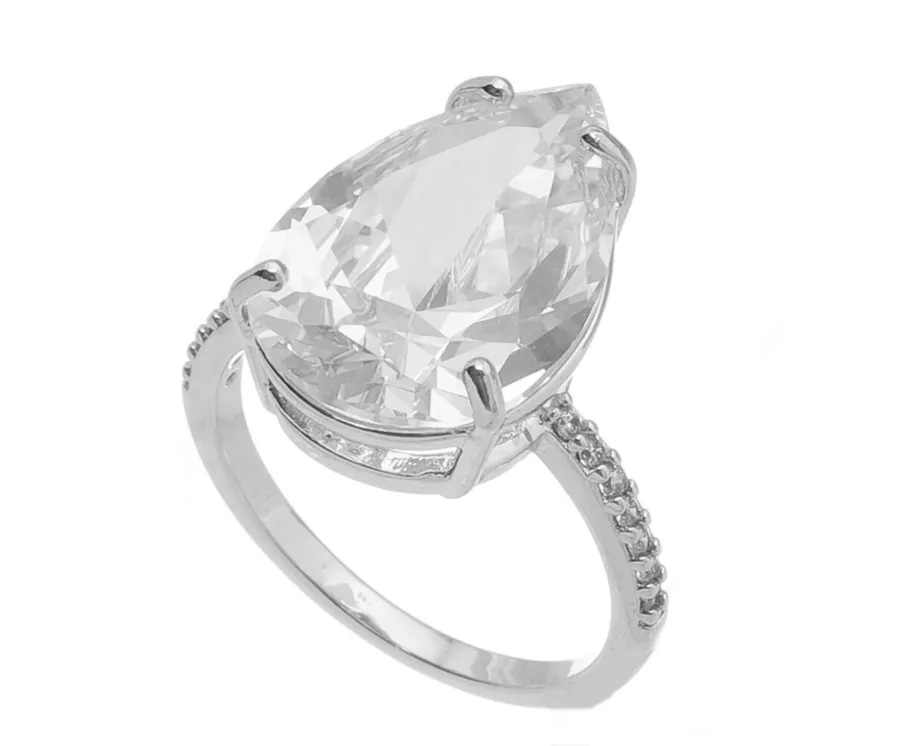 Semi joias de luxo anel solitário