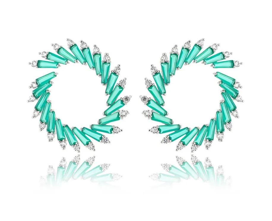 Semi joias de luxo argola frontal