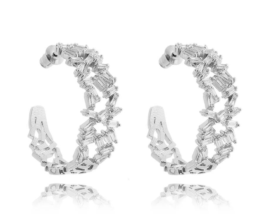 Semi joias de luxo argolas