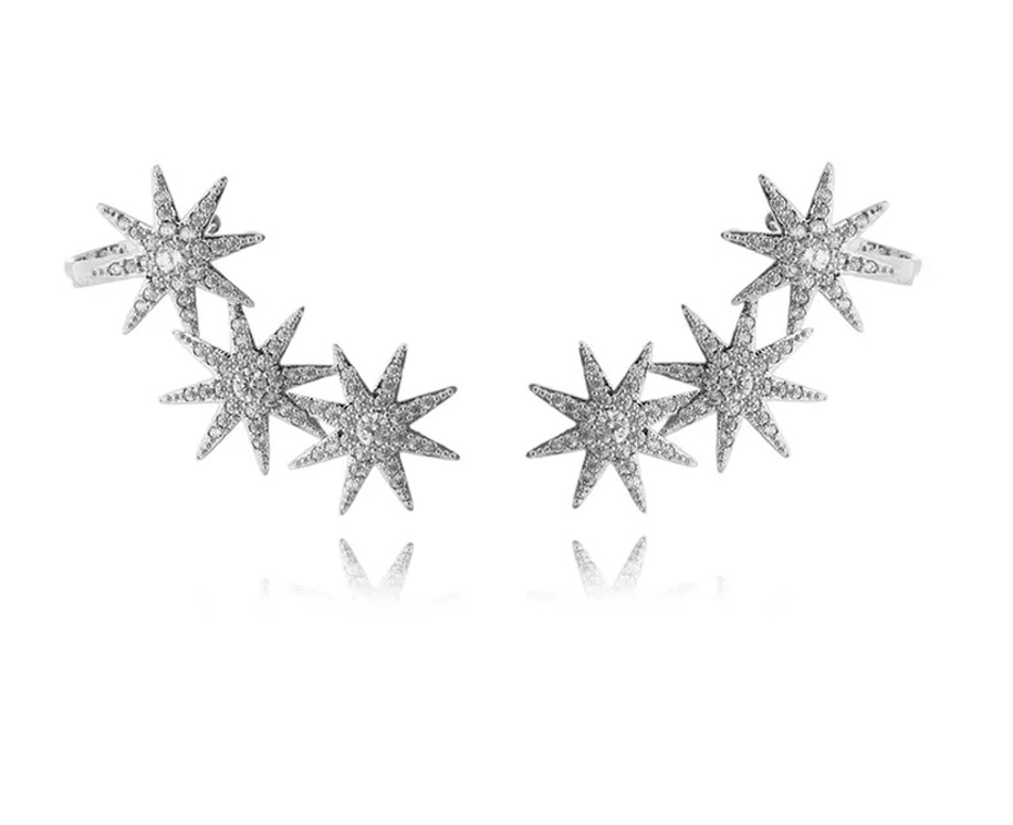 Semi joias de luxo ear cuff estrela